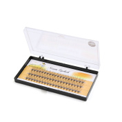 sourcingmap® 60 Pcs 12mm Long Natural Looking Curl Individual Cluster False Eyelashes Extension Cosmetic Tool