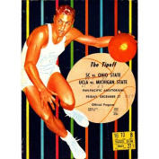 """""""The Tipoff"""" SC vs. Ohio State and UCLA vs. Michigan State 1957 Programme w/ Ticket"""
