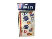 Kansas Jayhawks Wincraft Red & Blue Gameday Temporary Tattoo Sheet