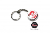 University of Nebraska Double Domed Keychain