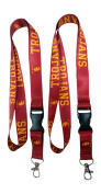 Trojans Lanyard NCAA Breakaway Team Lanyard Keychain ID Badge Holder Necklace