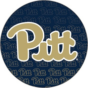 PITTSBURGH PANTHERS 10cm ROUND REPEAT DESIGN MAGNET-UNIVERSITY OF PITTSBURGH MAGNET-NEW FOR 2016