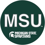 MICHIGAN STATE SPARTANS 10cm ROUND BLOCK LETTER MAGNET-MICHIGAN STATE MAGNET-NEW FOR 2016