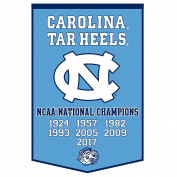 University of North Carolina Tar Heels 7 Time National Champions Dynasty Banner
