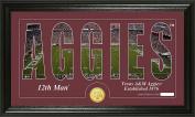 """NCAA Texas A & M Aggies """"Silhouette"""" Panoramic Bronze Coin Photo Mint, 60cm x 38cm x 10cm , Bronze"""
