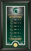 NCAA Michigan State Spartans Legacy Supreme Minted Coin Panoramic Photo Mint, 60cm x 41cm x 10cm , Bronze