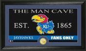 NCAA Kansas Jayhawks Man Cave Coin Panoramic Photo Mint, 60cm x 38cm x 10cm , Bronze