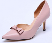 YTTY Leather High Heel Shoes,Pink,35