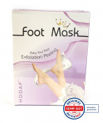Footmask, exfoliation mask, 2 pairs for baby soft and beautiful feet, Foot peel socks,