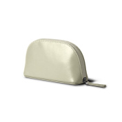 Lucrin - Makeup Bag (16 x 8.5 x 5.5 cm) - Off-White - Smooth Leather