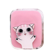 Travel Portable Contact Lens Case Cute Eye Care Container Holder Box #01