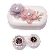 Leather Contact Lens Case Eye Care Kit Holder Personality Gift #05