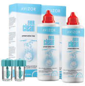 Avizor Ever Clean Preservative Free Cleaning, Disinfecting and Total Protein Removal System - 2 x 350ml + 90 tabs - 90 Days