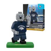 NCAA Nevada Wolf Pack Alphie Mascot Gen 2 Mini Figure, Small, Black