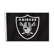NFL Oakland Raiders Unisex Oakland Raiders 0.6m X 0.9m Flag W/Grommetts, black, One Size