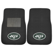FANMATS 17593 NFL New York Jets 2-Piece Embroidered Car Mat