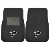 FANMATS 17131 NFL Atlanta Falcons 2-Piece Embroidered Car Mat