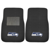 FANMATS 17128 NFL Seattle Seahawks 2-Piece Embroidered Car Mat