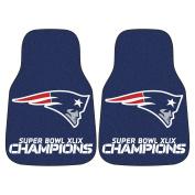 FANMATS New England Patriots Super Bowl XLIX Champions 2-Piece Carpeted Car Mat