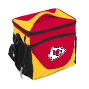 NFL Kansas City Chiefs 24 Can Cooler, One Size, Black