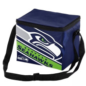 Seattle Seahawks Big Logo Stripe 12 Pack Cooler
