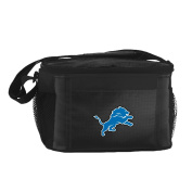 NFL Detroit Lions Insulated Lunch Cooler Bag with Zipper Closure, Black