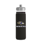 NFL Baltimore Ravens Van Metro Squeezable LDPE Water Bottle, Black, 650ml
