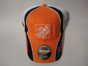 New! Orange NASCAR Home Depot Embroidered Adjustable Hook and loop Back Cap