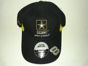 New! Black NASCAR U.S. Army Embroidered Adjustable Hook and loop Back Cap