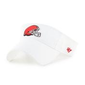 NFL Cleveland Browns Clean Up Adjustable Visor, One Size, White