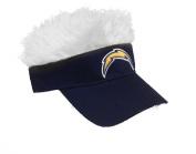 NFL San Diego Chargers Flair Hair Adjustable Visor, Navy