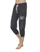 NY Jets - Team Logo Womens Casual-wear Lounge / Yoga Crop Pants