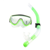 Adult PVC Tempered Glass Diving Goggles Mask With Silicone Snorkle Set Swimming Equipment