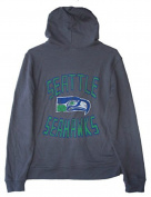 Seattle Seahawks Adult Size Large Full Zip Hooded Sweatshirt - Charcoal Grey