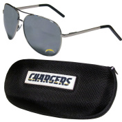 NFL San Diego Chargers Aviator Sunglasses & Zippered Carrying Case