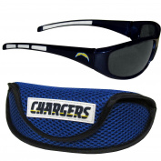 NFL San Diego Chargers Wrap Sunglasses & Sport Case, Blue