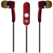 NFL San Francisco 49ers Hands Free Ear Buds with Microphone