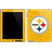 NFL Pittsburgh Steelers iPad 2 Skin - Pittsburgh Steelers - Alternate Distressed Vinyl Decal Skin For Your iPad 2