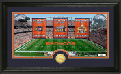 NFL Denver Broncos Super Bowl Traditions Bronze Coin Panoramic Photo Mint Frame, Black