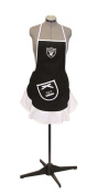 Hostess Apron - NFL - Oakland Raiders - Team Logo Kitchen Home Outdoor Indoor BBQ Picnic Woman Lady Girl