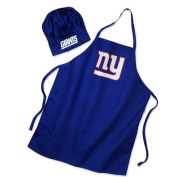 Men's Chef Hat & Apron - NFL - New York Giants - Team Logo BBQ Barbeque Cook Grill Home Tailgating Picnic