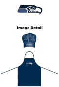 Seattle Seahawks NFL Team Logo Sports Fan BBQ Barbeque Cook Grill Home Outdoor Indoor Tailgating Picnic Men Chef Hat & Apron