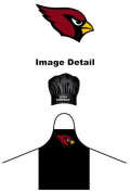 Arizona Cardinals NFL Team Logo Sports Fan BBQ Barbeque Cook Grill Home Outdoor Indoor Tailgating Picnic Men Chef Hat & Apron