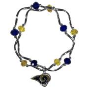 NFL Los Angeles Rams Womens Crystal Bead Bracelet