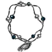 NFL Philadelphia Eagles Women's Crystal Bead Bracelet, Stretch