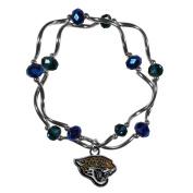 NFL Jacksonville Jaguars Women's Crystal Bead Bracelet, Stretch