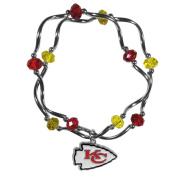 NFL Kansas City Chiefs Women's Crystal Bead Bracelet, Stretch