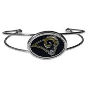 NFL Los Angeles Rams Womens Siskiyoucuff Bracelet, Metal, Cuff