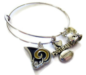 LOS ANGELES RAMS 4-Charm Adjustable Bangle Bracelet