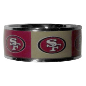 NFL San Francisco 49ers Women's Inlaid Ring, Size 12, Steel